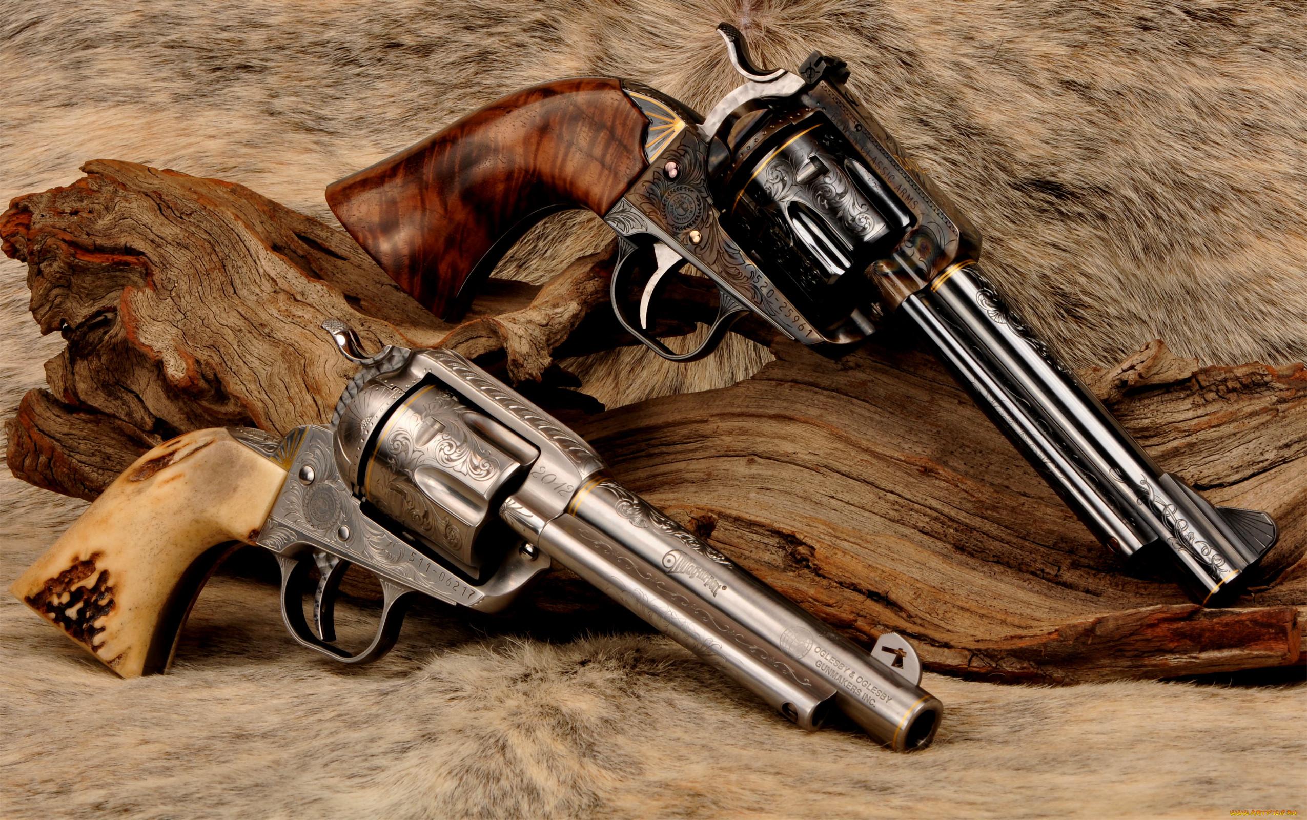 декор, красивые картинки с револьверами для изготовления